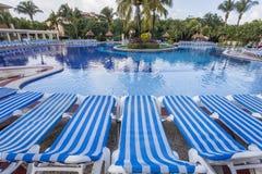 Pływacki basen w luksusowym kurorcie, Riviera majowie, Meksyk Obraz Stock
