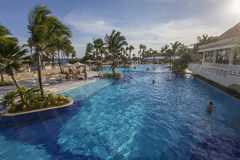 Pływacki basen w luksusowym kurorcie, Riviera majowie, Meksyk Zdjęcie Royalty Free