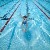 Pływacki basen w rasie Zdjęcia Stock