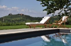 Pływacki basen w wsi Zdjęcie Royalty Free