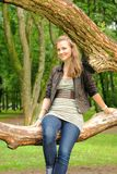 pływacki dziewczyny drzewo Zdjęcia Stock