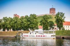 Pływacki jacht w Vilnius Zdjęcia Royalty Free