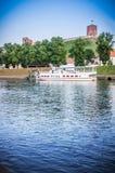 Pływacki jacht w Vilnius Zdjęcie Stock