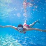 pływacki underwater Fotografia Stock