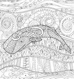 Pływacki wieloryb dla antej stres kolorystyki Zdjęcia Stock