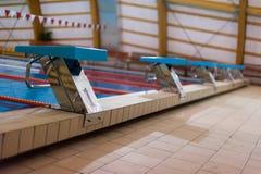 Pływacki zaczyna up Obrazy Royalty Free