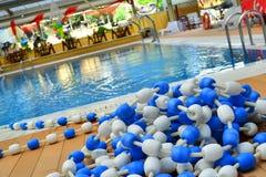 Pływackiego basenu wakacje boisko Fotografia Stock