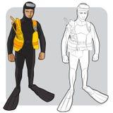 Pływaczka lub nurek Zdjęcie Stock