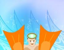pływak fin ilustracja wektor