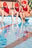 Pływania spotkanie Zdjęcie Stock