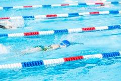 Pływania spotkanie Zdjęcia Royalty Free