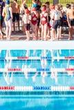 Pływania spotkanie Obraz Stock