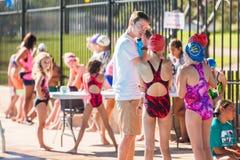 Pływania spotkanie Fotografia Royalty Free