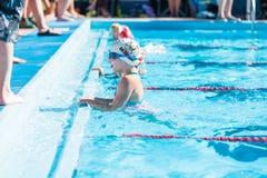 Pływania spotkanie Zdjęcia Stock