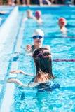 Pływania spotkanie Obrazy Stock