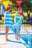 Pływania spotkanie Obraz Royalty Free