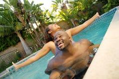 pływanie pary Fotografia Royalty Free