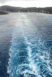 pływanie statku away Obrazy Royalty Free