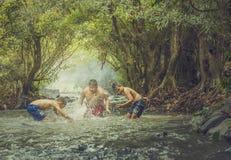 Pływanie w strumieniu Zdjęcia Stock
