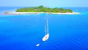 Free P00022 Aerial Flying Drone View Of Maldives White Sandy Beach On Sunny Tropical Paradise Island With Aqua Blue Sky Sea Water Ocean Royalty Free Stock Photos - 96519848