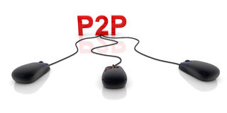 P2P Royalty Free Stock Photo
