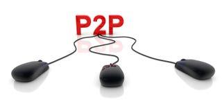 p2p Zdjęcie Royalty Free
