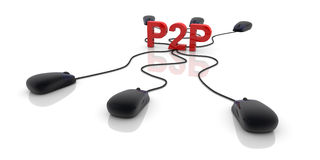 P2P Net Royalty Free Stock Images