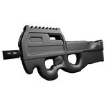 P90 Submachine Gun. Illustration from online game In Nomine Credimus Royalty Free Stock Photography