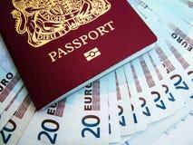 Paß und Euro Lizenzfreie Stockfotos