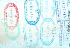 Paß, Visum, stempelt Lizenzfreies Stockbild
