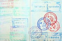 Paß, Visum, stempelt. lizenzfreies stockfoto