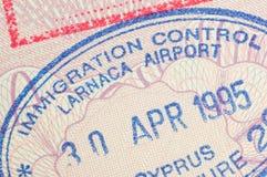 Paßstempel Zypern Lizenzfreie Stockfotos