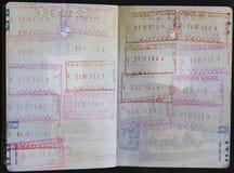 Paßvisum und -stempel Lizenzfreies Stockfoto