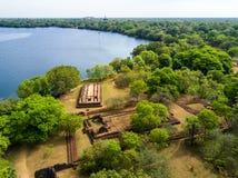 Pałac kompleks królewiątko Nishshanka Malla, Nissanka Malla, Kirti Nissanka lub Kalinga Lokesvara, Polonnaruwa, Sri Lanka, Azja zdjęcia stock