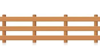 Paśnik Płotowa Drewniana tekstura ilustracja wektor