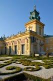 PaÅ '与Wilanow宫殿的ac Wilanà ³ 图库摄影