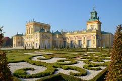 PaÅ '与Wilanow宫殿的ac Wilanà ³ 库存图片