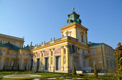 Wilanow Palace. Wilanów Palace was built by King John III Sobieski in the last quarter of the 17th century. It is the pearl of Polish baroque. Photo taken Royalty Free Stock Photos
