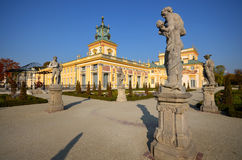 Wilanow Palace. Wilanów Palace was built by King John III Sobieski in the last quarter of the 17th century. It is the pearl of Polish baroque Stock Photos