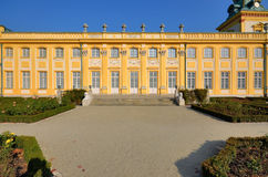 Wilanow Palace. Wilanów Palace was built by King John III Sobieski in the last quarter of the 17th century. It is the pearl of Polish baroque. Photo taken Royalty Free Stock Images