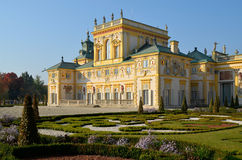 Wilanow Palace. Wilanów Palace was built by King John III Sobieski in the last quarter of the 17th century. It is the pearl of Polish baroque Stock Photography
