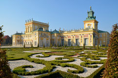 Wilanow Palace. Wilanów Palace was built by King John III Sobieski in the last quarter of the 17th century. It is the pearl of Polish baroque Stock Images