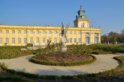 Wilanow Palace. Wilanów Palace was built by King John III Sobieski in the last quarter of the 17th century. It is the pearl of Polish baroque. Photo taken Stock Photo
