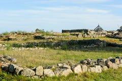 Plateau Citania de Sanfins Portugal. Paços de Ferreira, Portugal - October 19, 2014 : Citânia de Sanfins, located on a plateau, in a summit position that gave royalty free stock photo