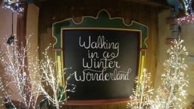 País das maravilhas do inverno da exposição do Natal video estoque