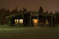 País das maravilhas do inverno de Lapland Fotos de Stock Royalty Free