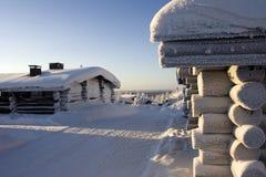 País das maravilhas do inverno de Lapland Fotografia de Stock