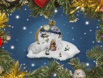 País das maravilhas em uma bola do Natal Fotografia de Stock Royalty Free