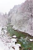 País de las maravillas del invierno de la vendimia Imagen de archivo libre de regalías