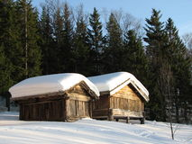 País de las maravillas del invierno - Noruega Imagen de archivo